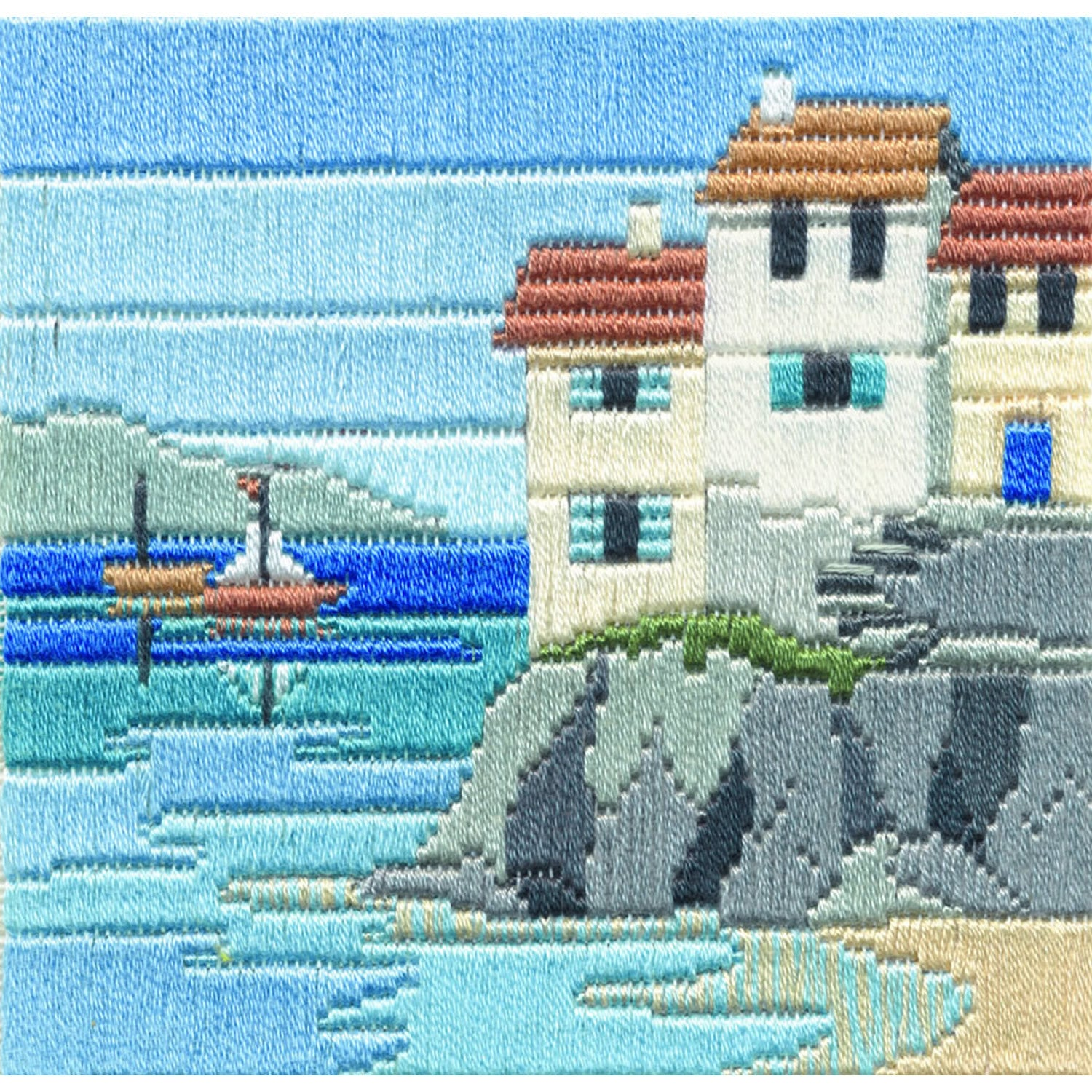 Headland Cottages<br />Silken Long Stitch Kit