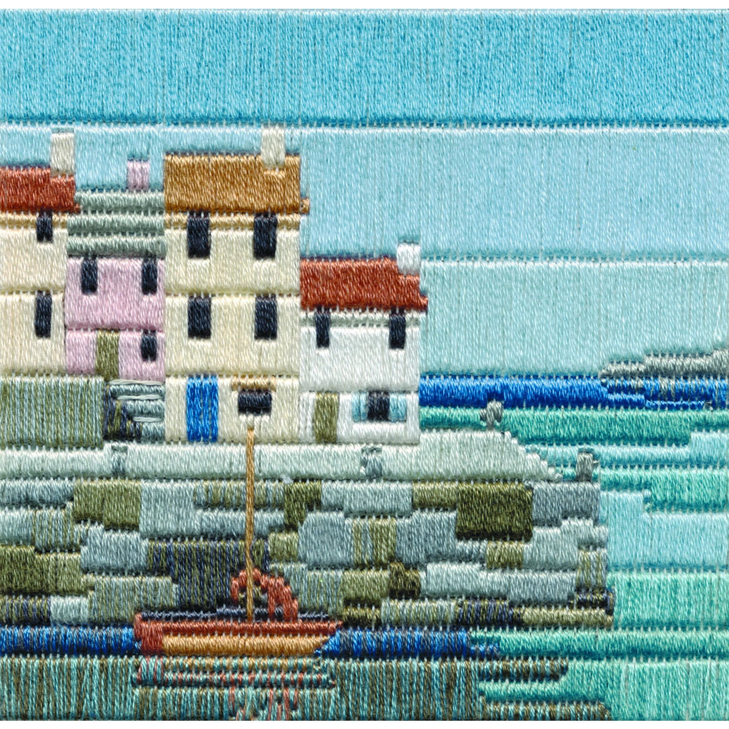 Fisherman's Cottages<br />Silken Long Stitch Kit