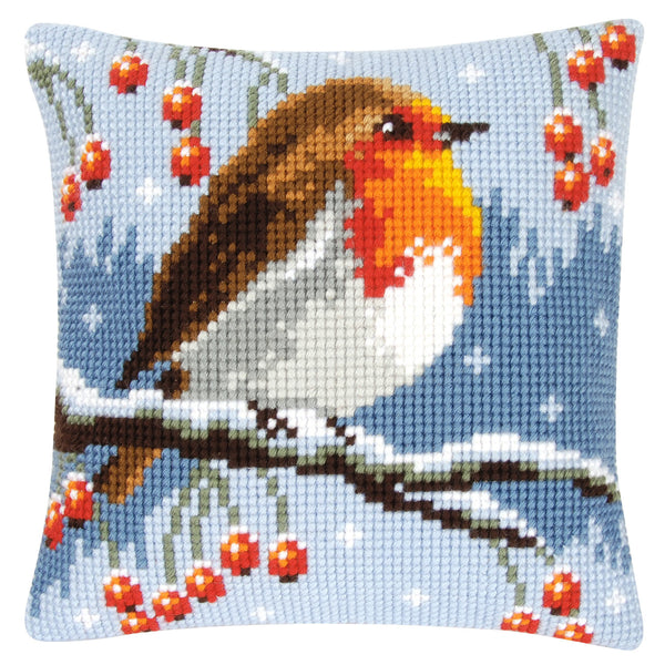 Robin Cross Stitch Cushion Kit