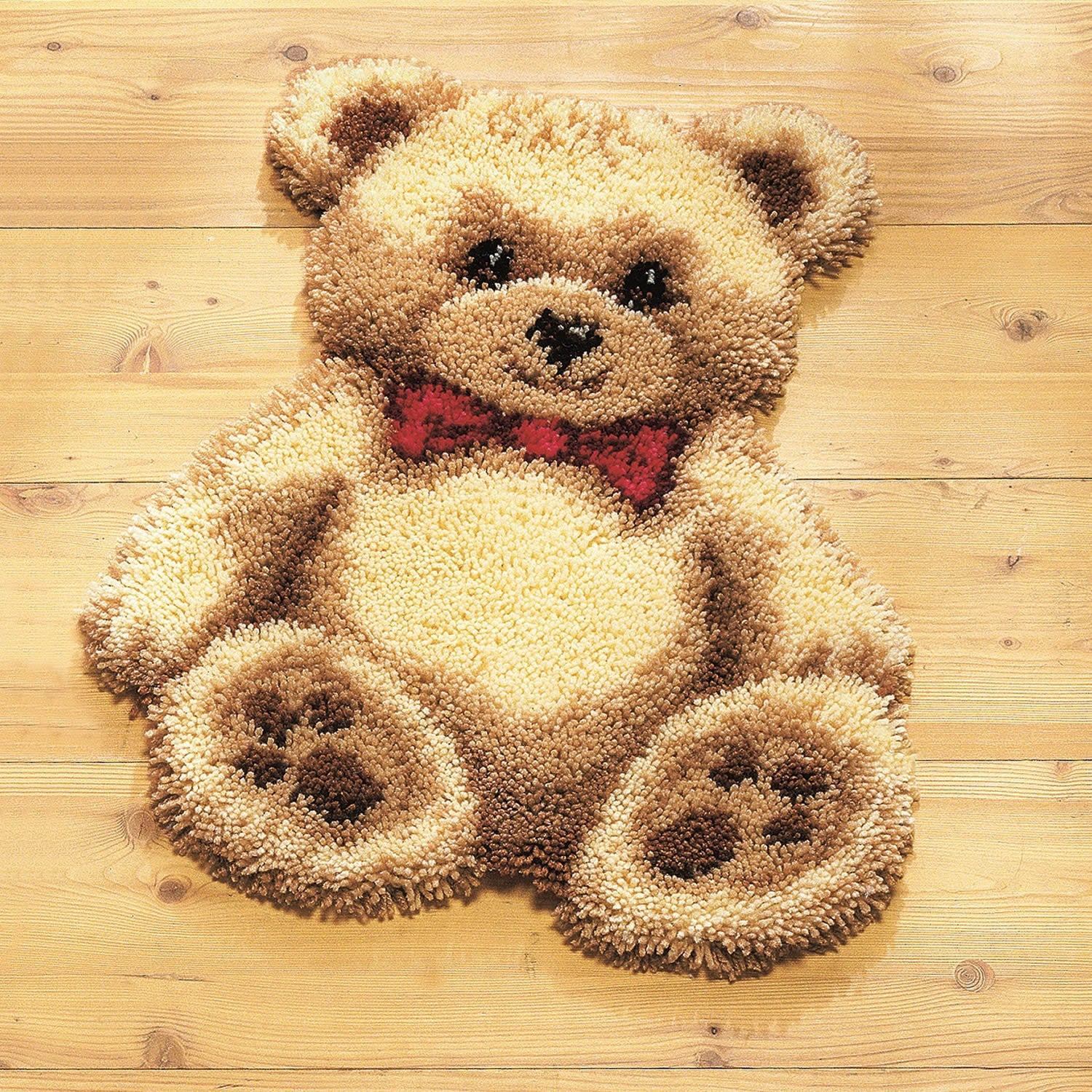 Teddy Bear Latch Hook Rug Kit Stitchkits