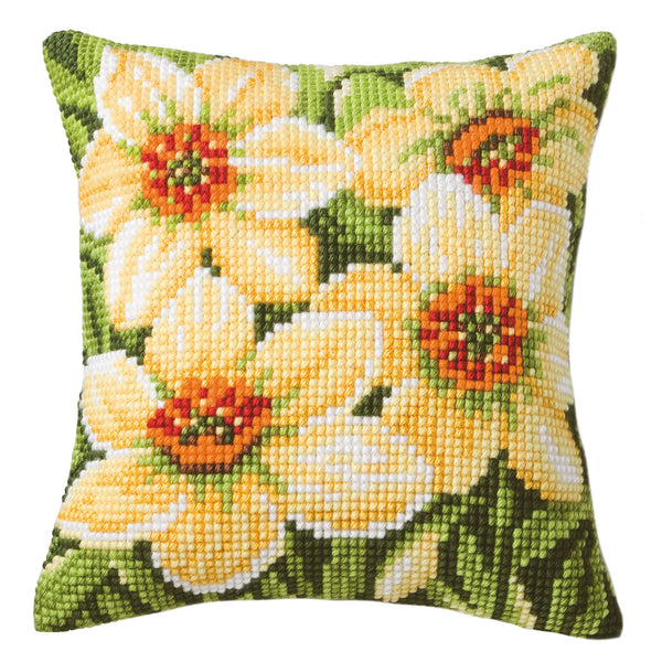Spring Daffodils<br />Cross Stitch Cushion Kit
