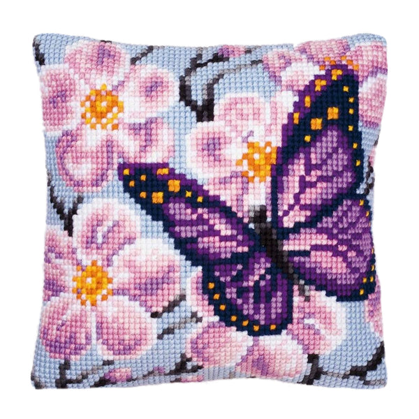 Cherry Blossom<br />Cross Stitch Cushion Kit