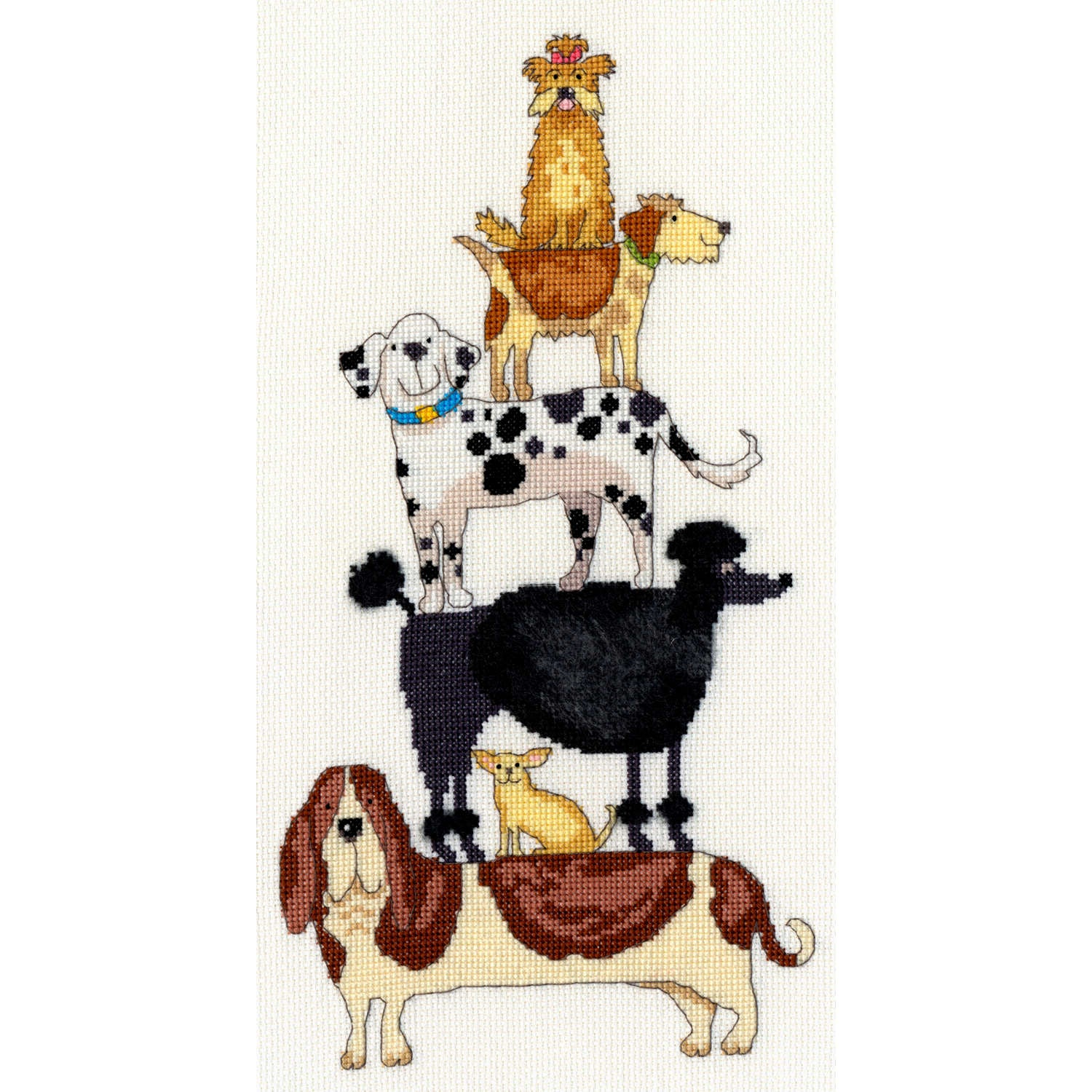 Dog Stack<br />Counted Cross Stitch Kit