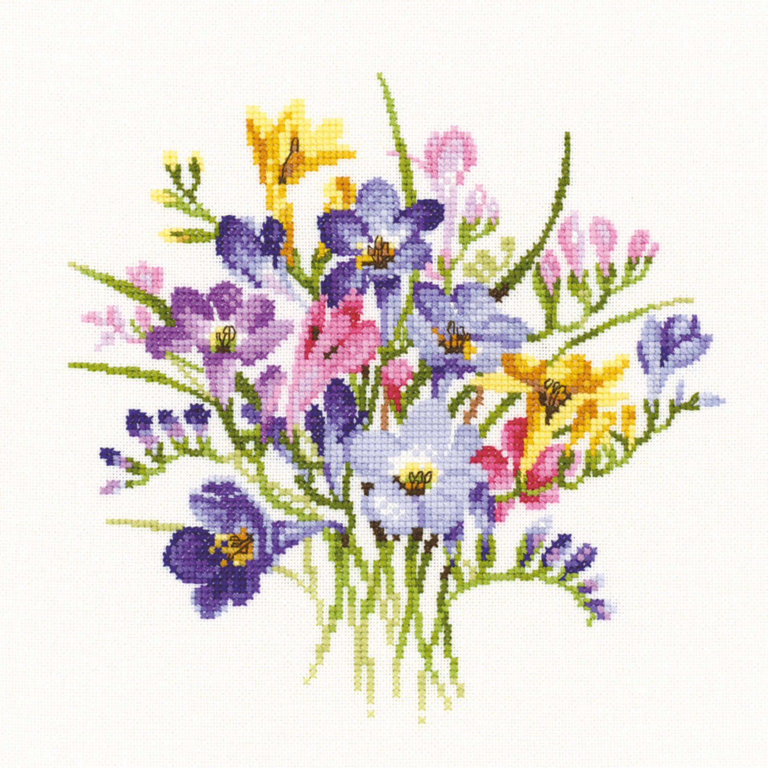 Freesia Posy: Counted Cross Stitch