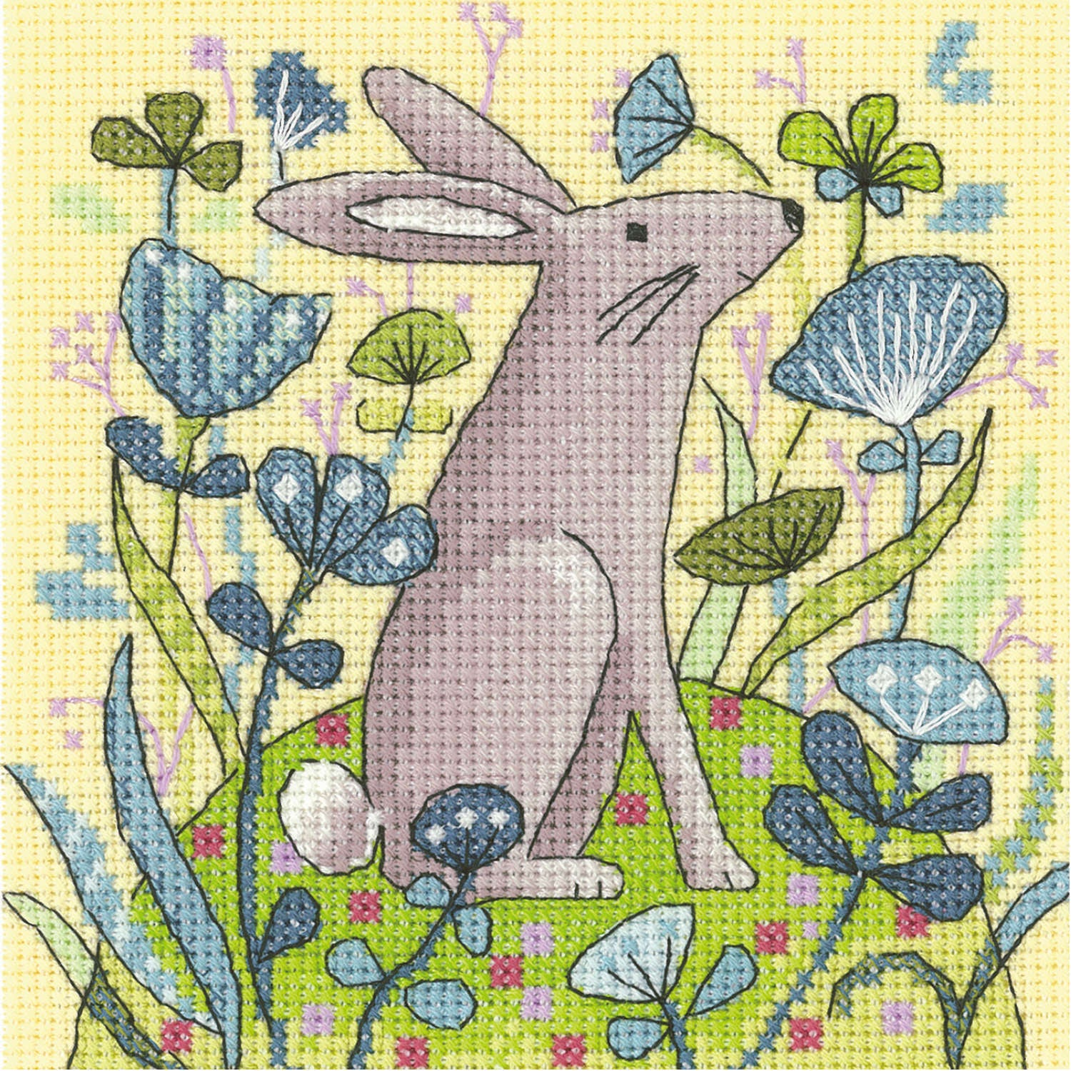 Woodland Creatures Hare: Counted Cross Stitch