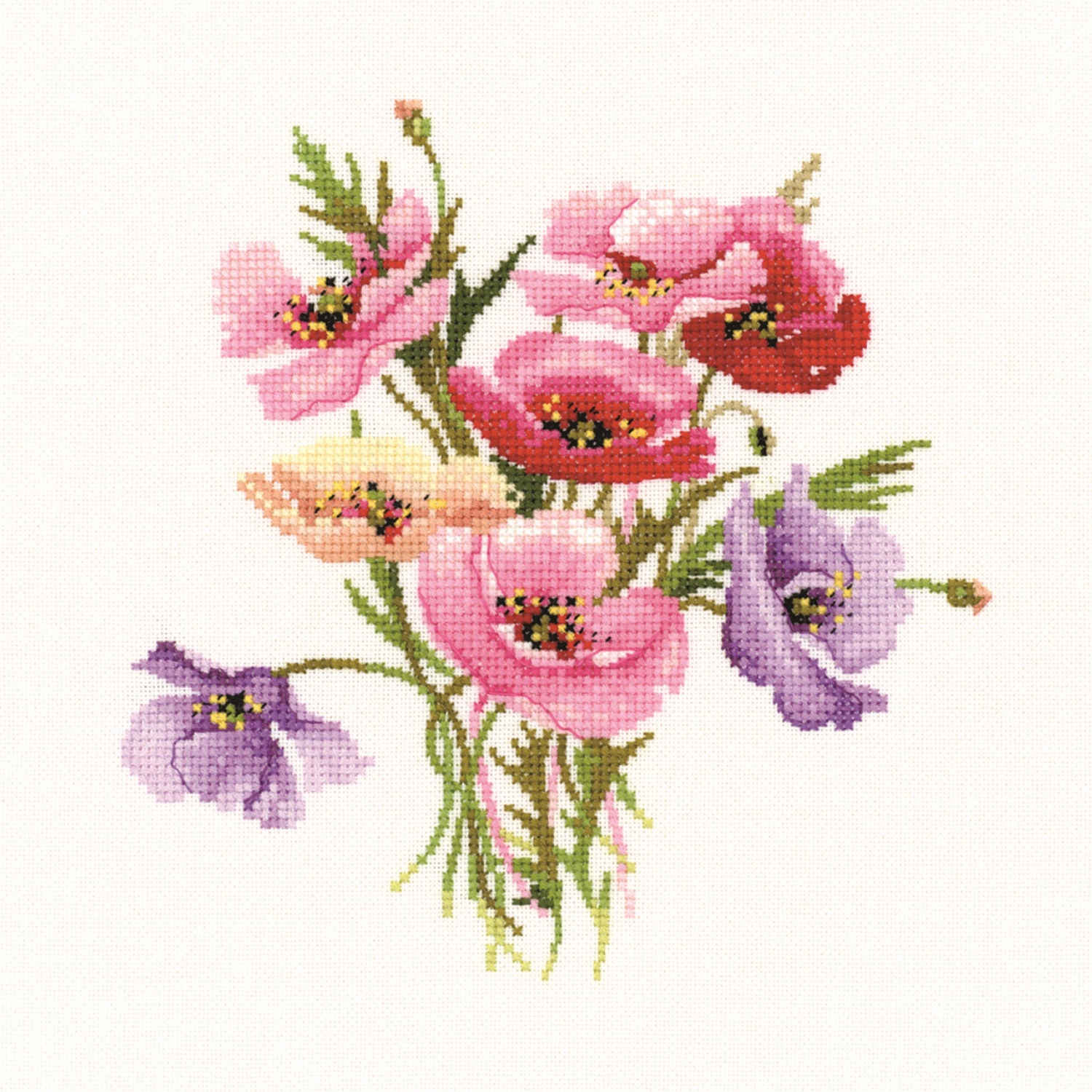 Poppy Posy: Counted Cross Stitch