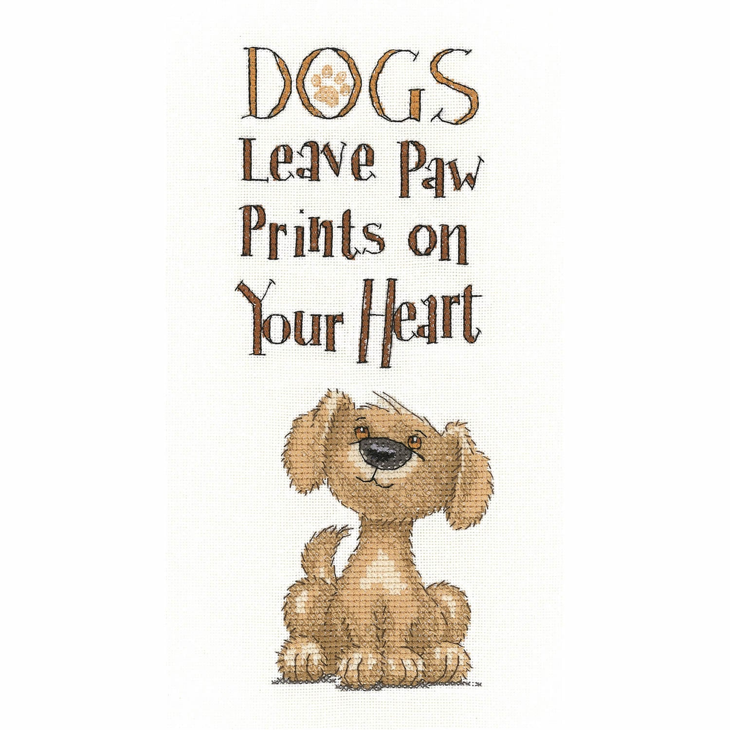 Dog Paw Prints <br />Counted Cross Stitch Kit