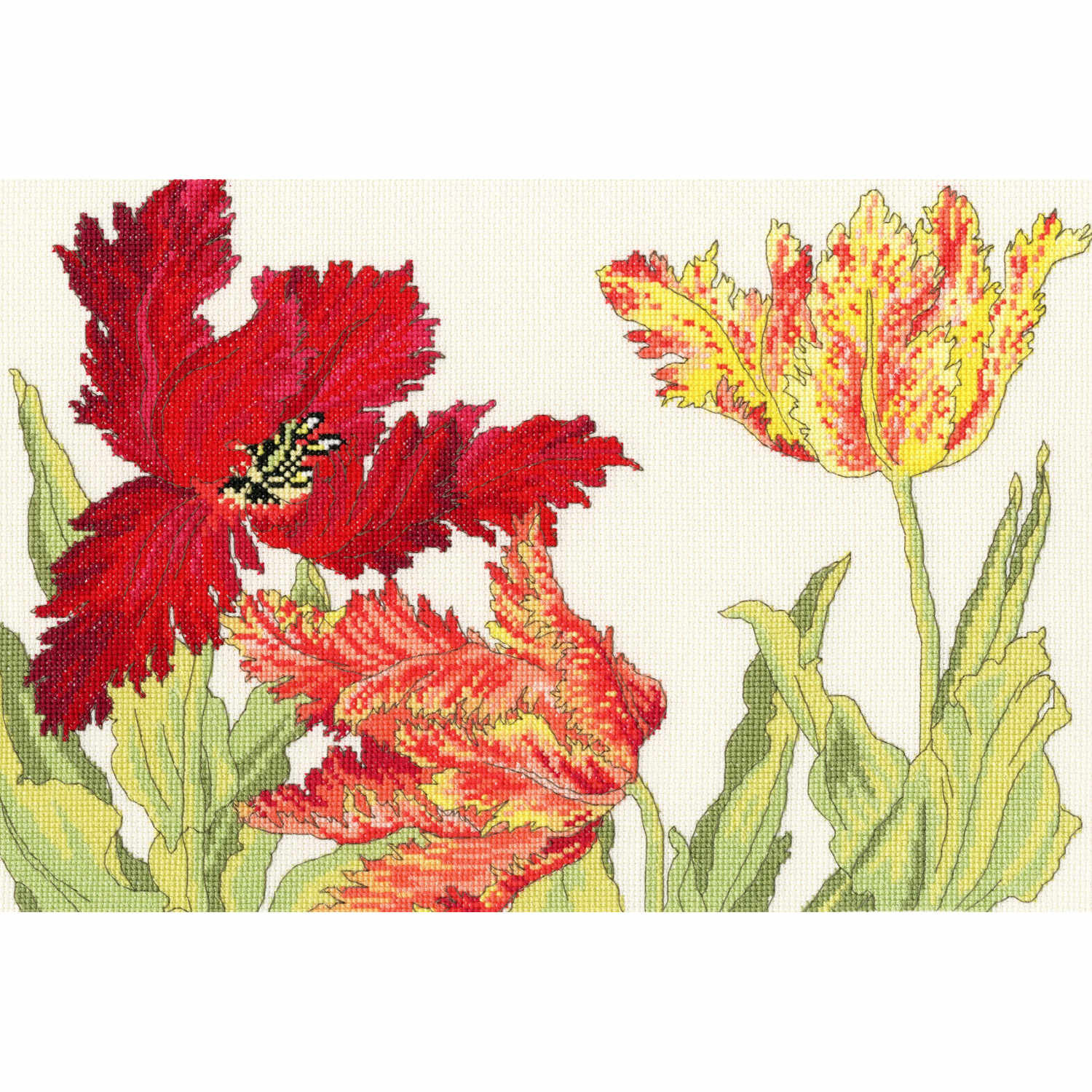 Japanese Woodblock: Tulips <br />Counted Cross Stitch Kit