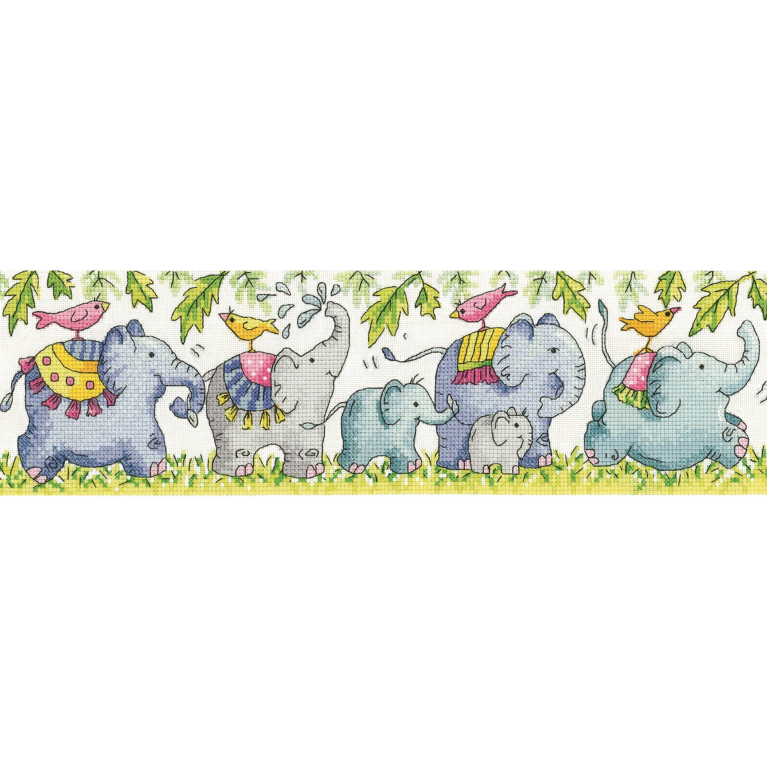 Elephants on Parade <br />Counted Cross Stitch Kit