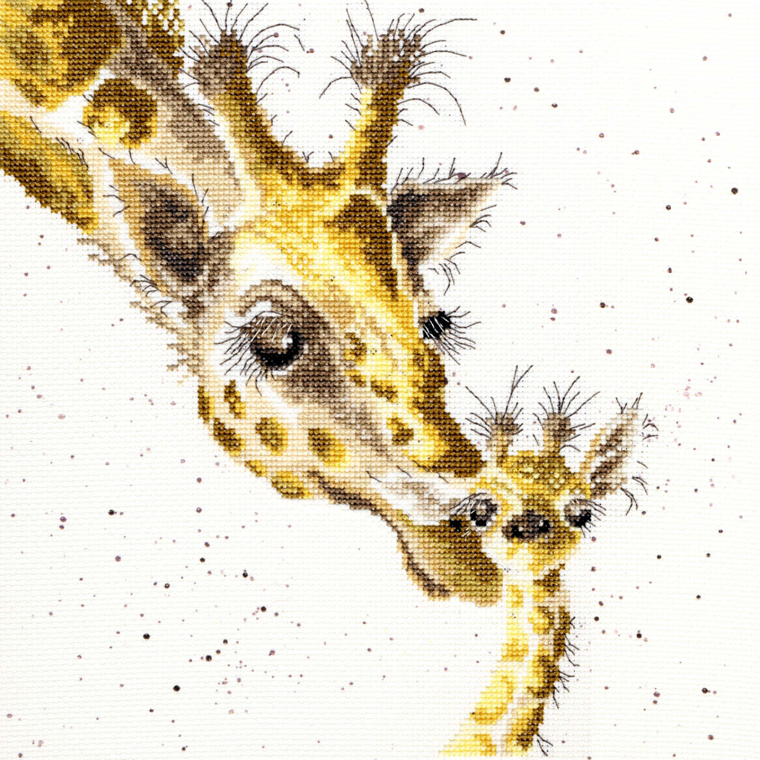Giraffe First Kiss <br />Counted Cross-Stitch Kit