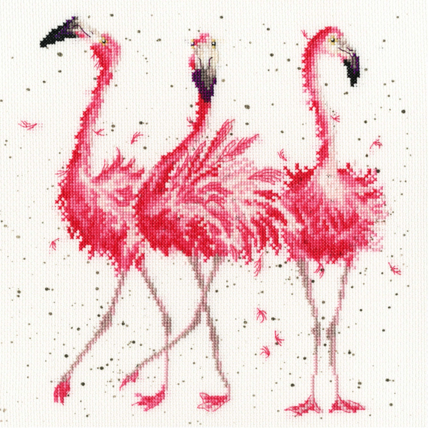 Pink Ladies Flamingos <br />Counted Cross-Stitch Kit