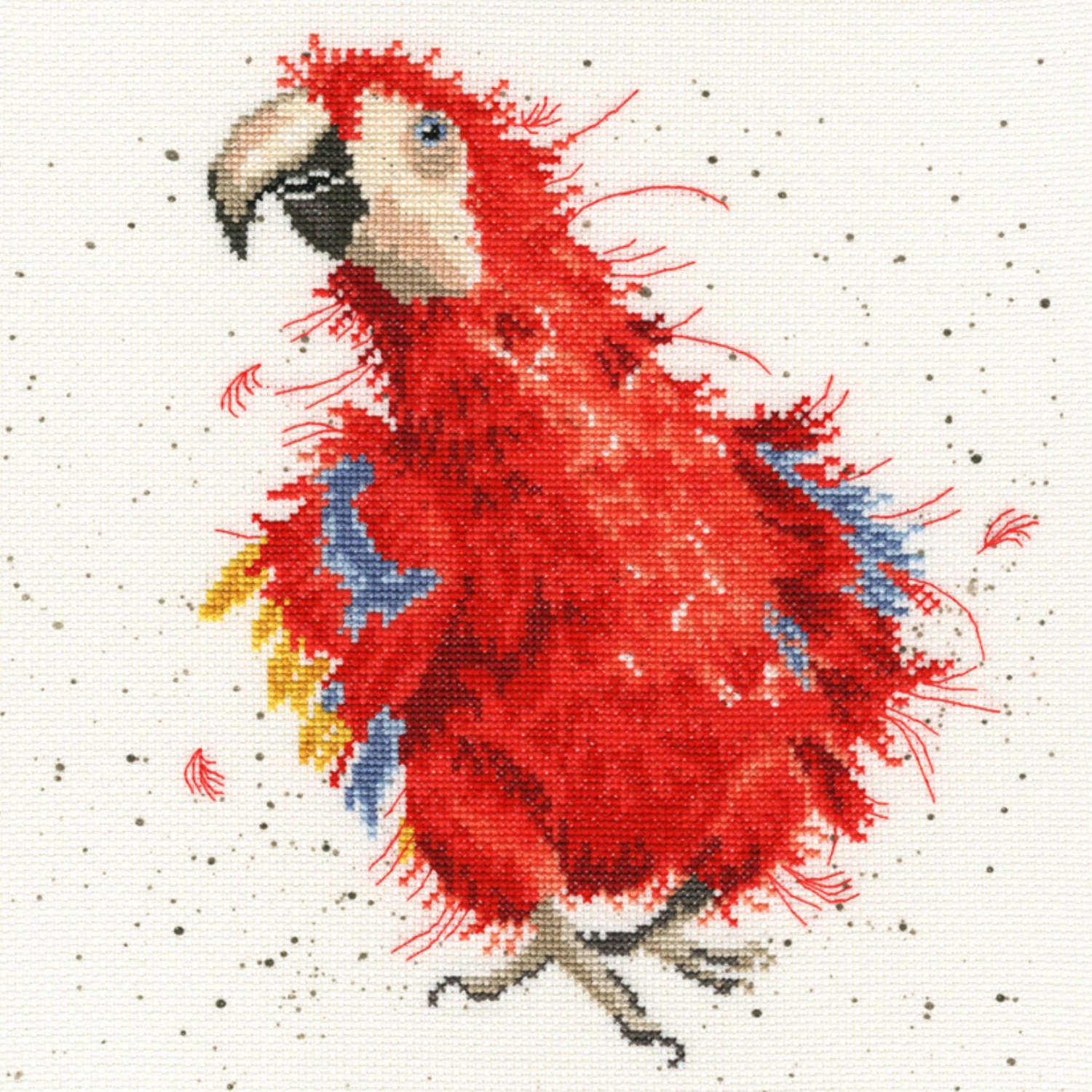 Parrot on Parade <br />Counted Cross-Stitch Kit