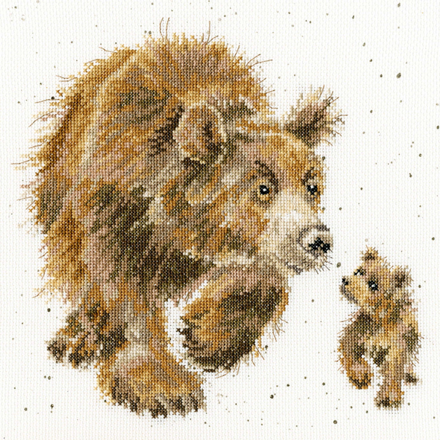 In My Footsteps Bear & Cub <br />Counted Cross-Stitch Kit