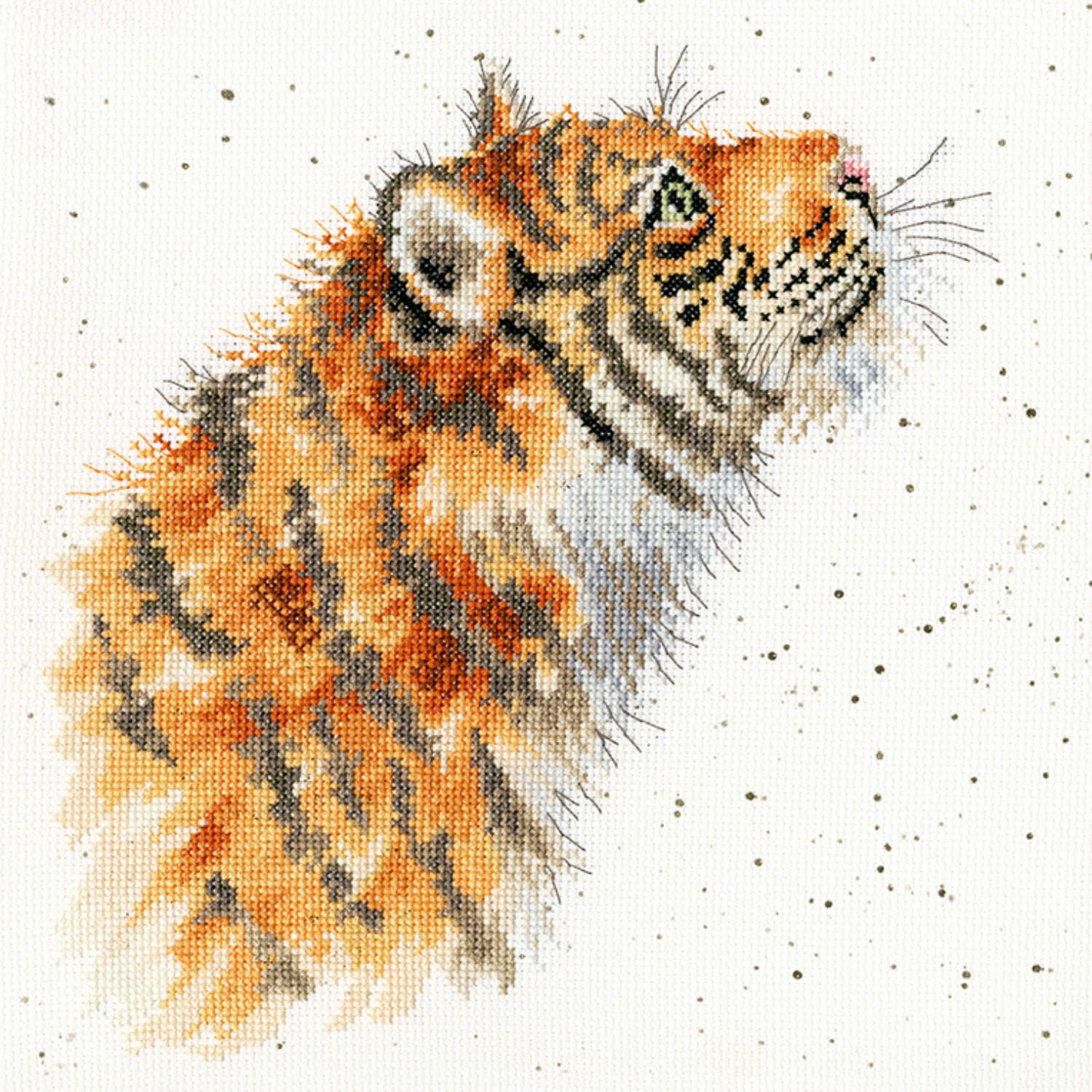 Moongazer Tiger <br />Counted Cross-Stitch Kit