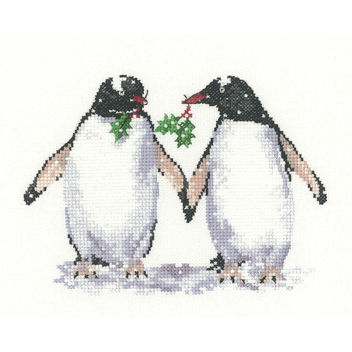 Christmas Penguins <BR />Counted Cross Stitch Kit