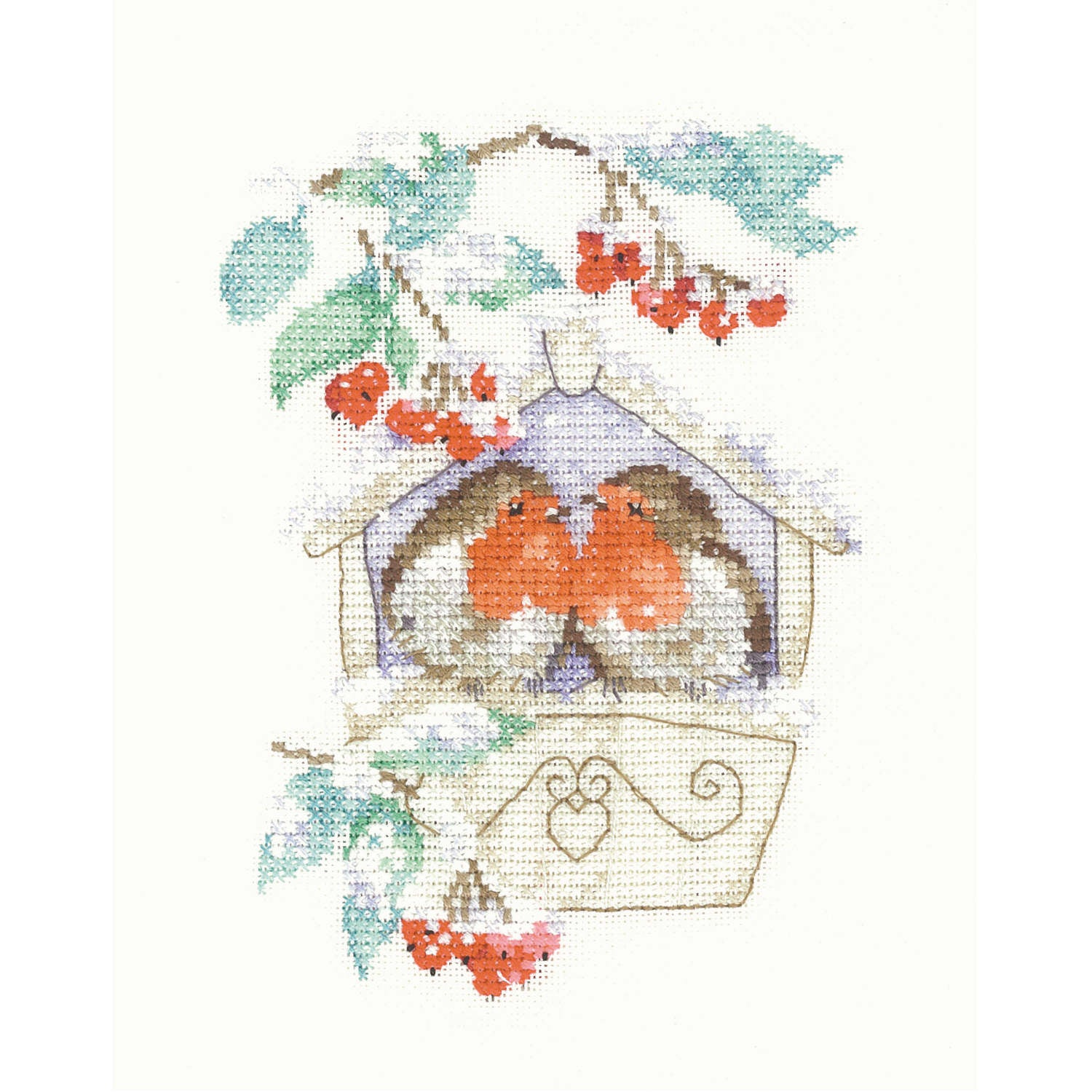 Hideaway Robins <BR />Counted Cross Stitch Kit