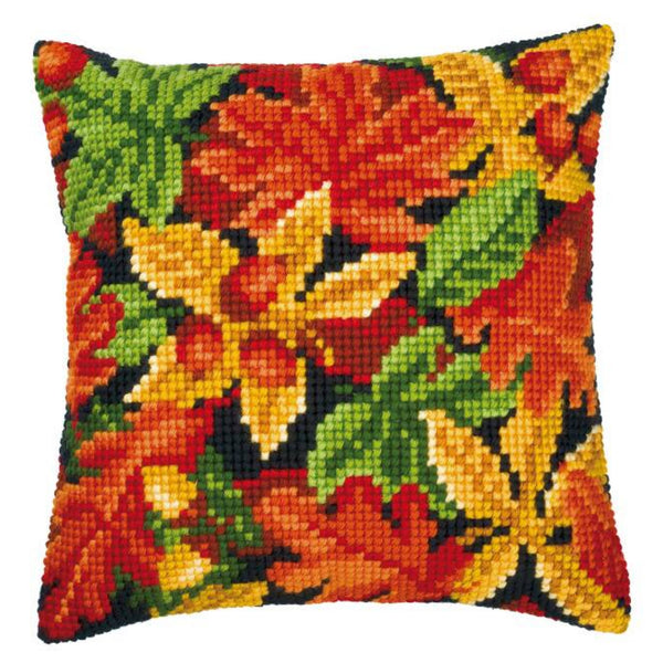 Autumn Leaves <br />Cross Stitch Cushion Kit