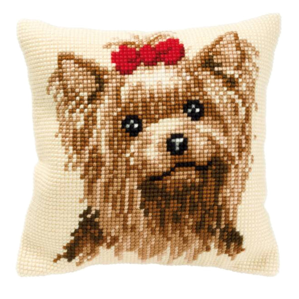 Yorkie <br />Cross Stitch Cushion Kit