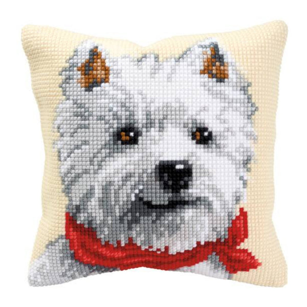 Westie <br />Cross Stitch Cushion Kit