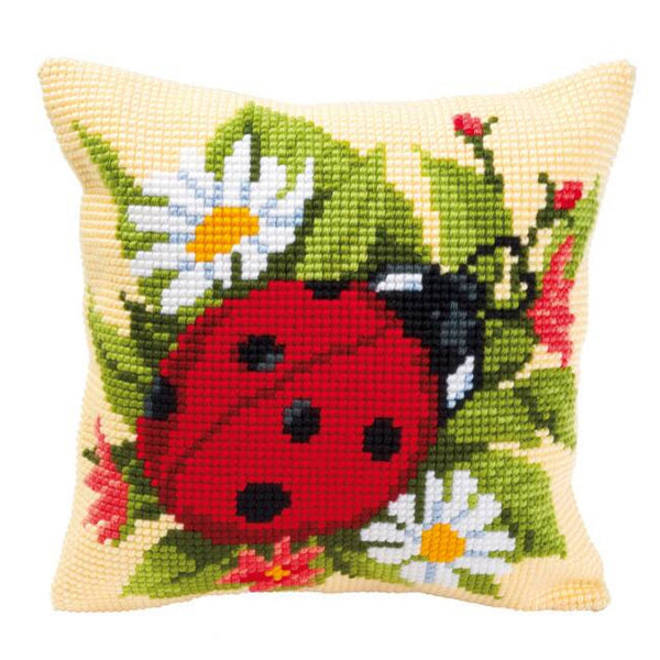 Ladybird <br />Cross Stitch Cushion Kit