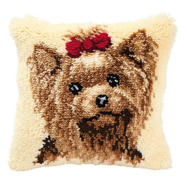 Yorkie <br />Latch Hook Cushion Kit