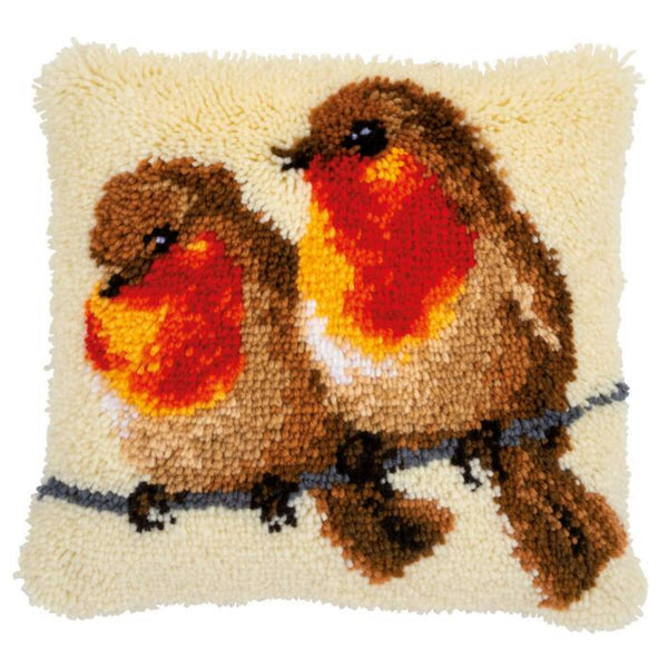 Robins on a Branch <br />Latch Hook Cushion Kit