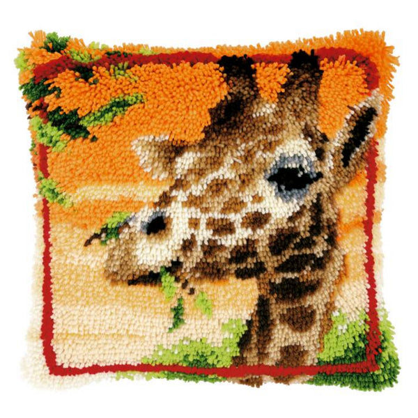 Giraffe <br />Latch Hook Cushion Kit