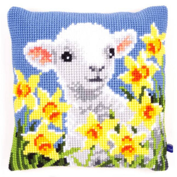Lamb <br />Cross Stitch Cushion Kit