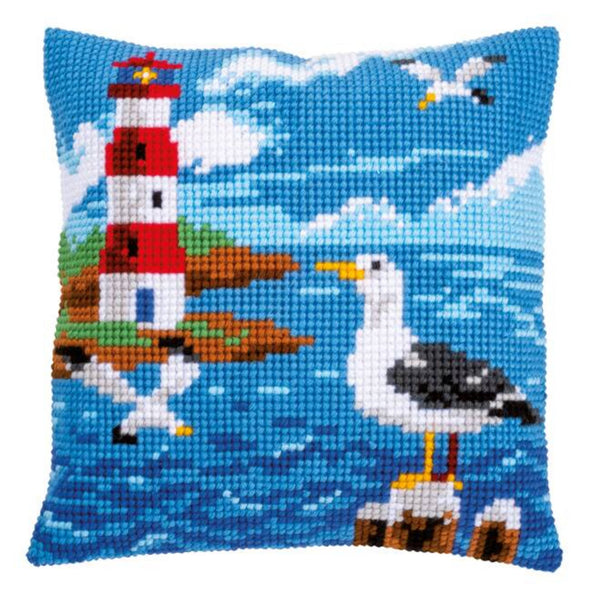 Seagull and Lighthouse <br />Cross Stitch Cushion Kit
