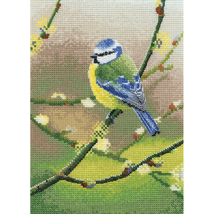Nigel Artingstall Blue Tit <BR />Counted Cross Stitch