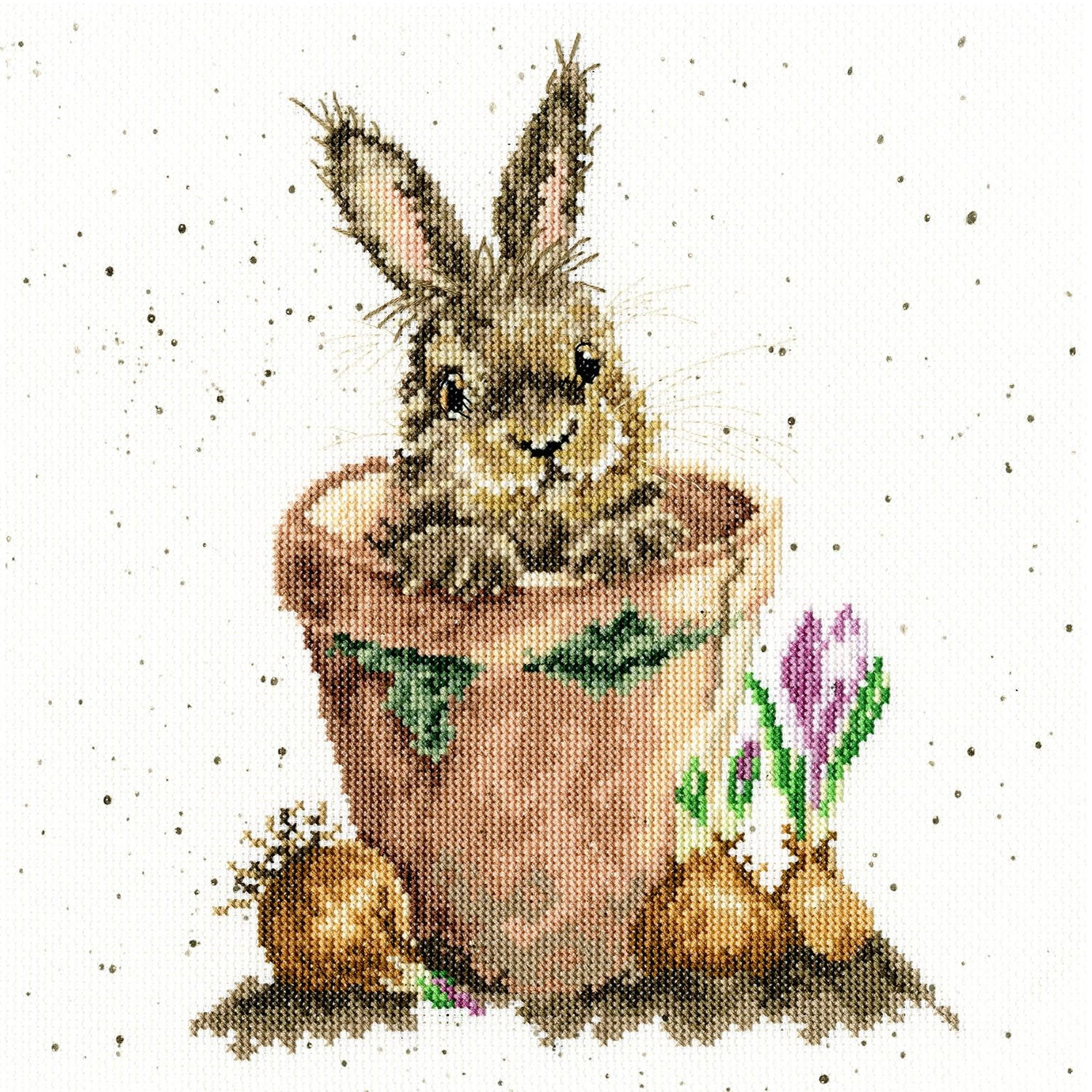 The Flower Pot Rabbit <br />Counted Cross-Stitch Kit