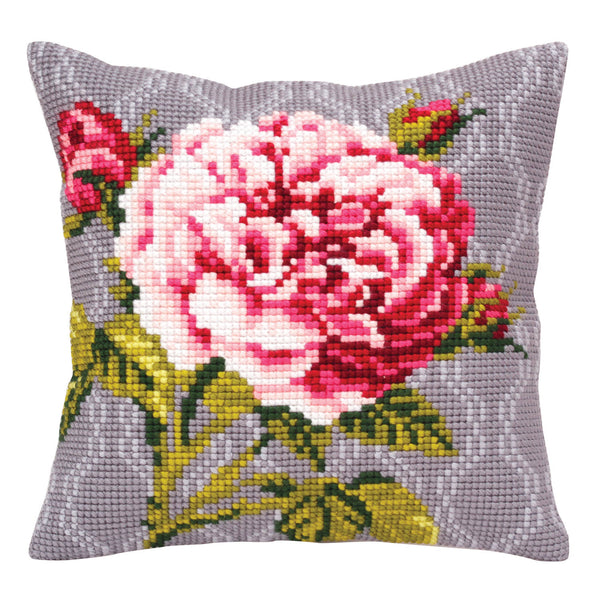 Floribunda Rose <br />Cross Stitch Cushion Kit