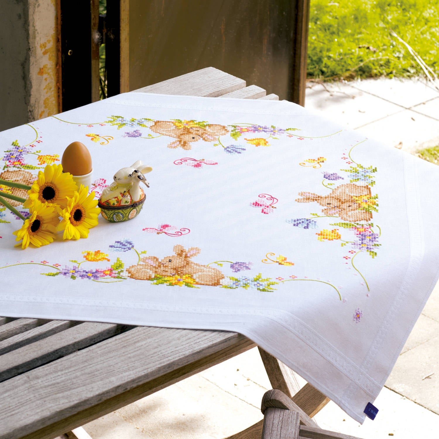 Bunnies Tablecloth <br />Embroidery Kit