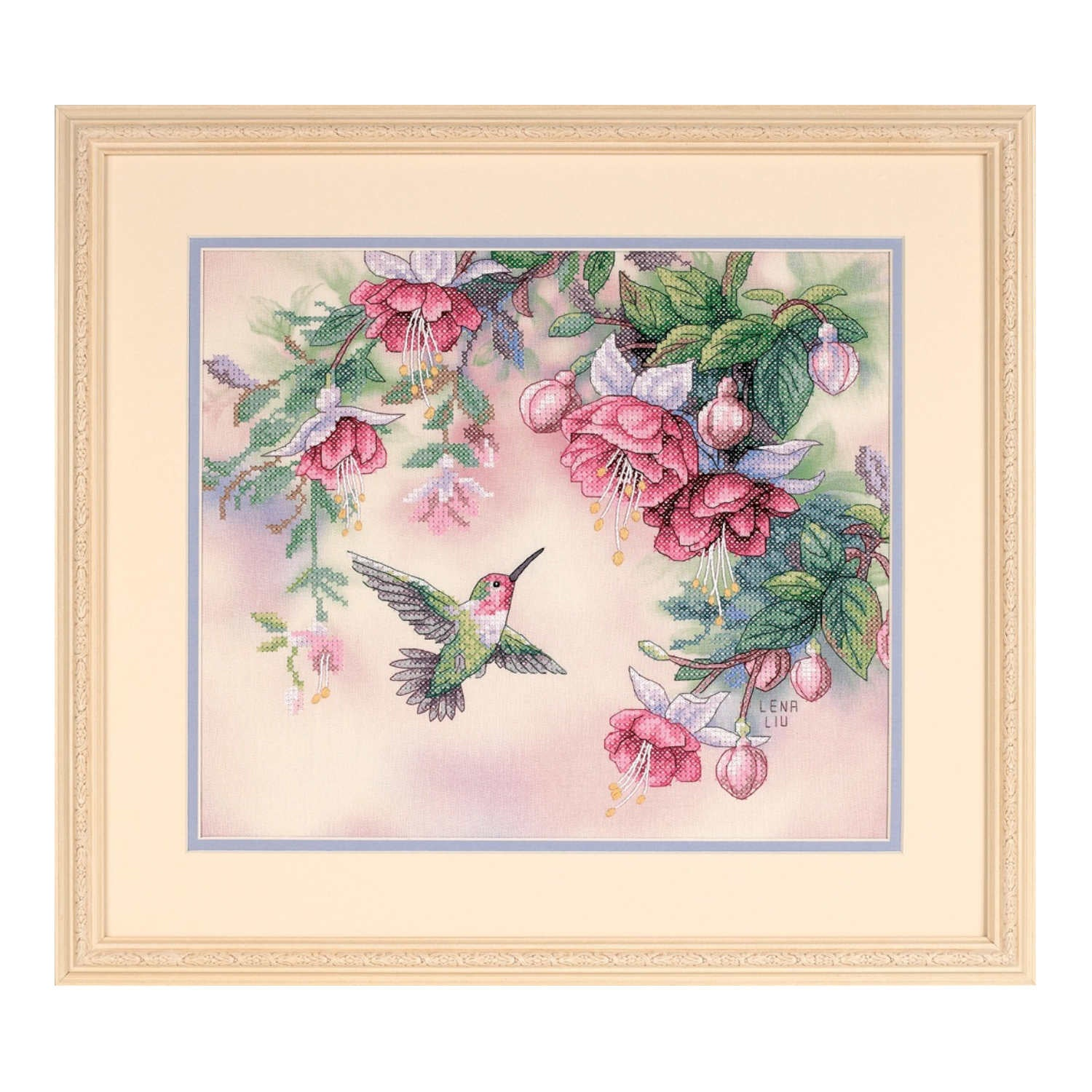 Hummingbird & Fuchsias <br />Counted Cross-Stitch Kit