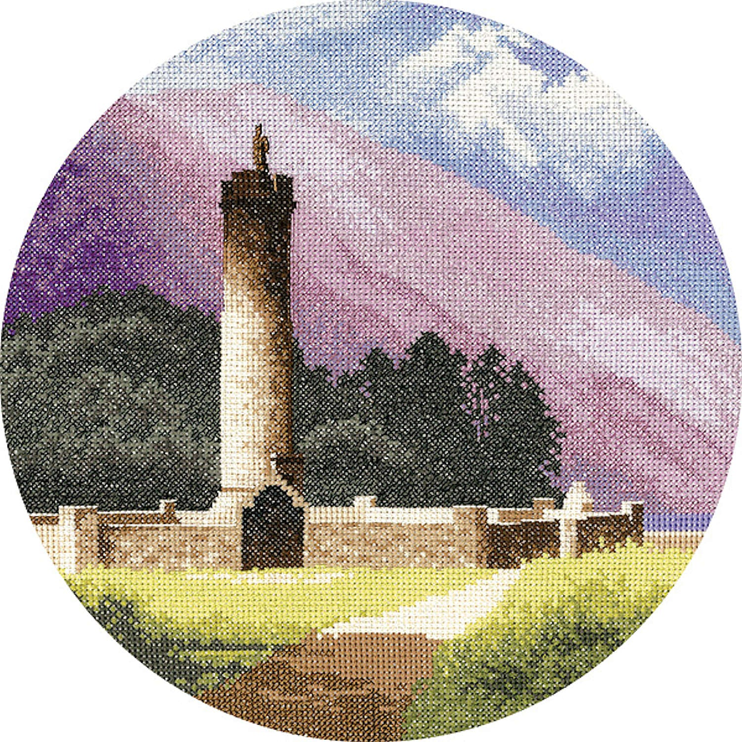 John Clayton Counted Cross Stitch<br /> Bonnie Prince Charlie's Monument