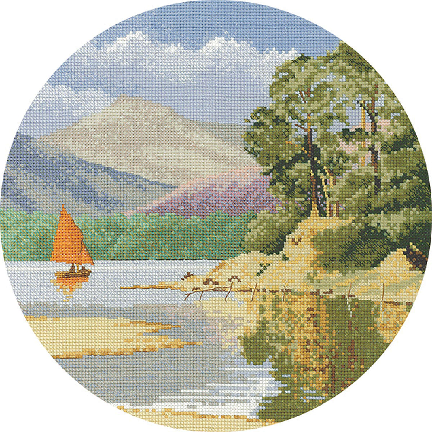 John Clayton Counted Cross Stitch<br /> Calm Waters