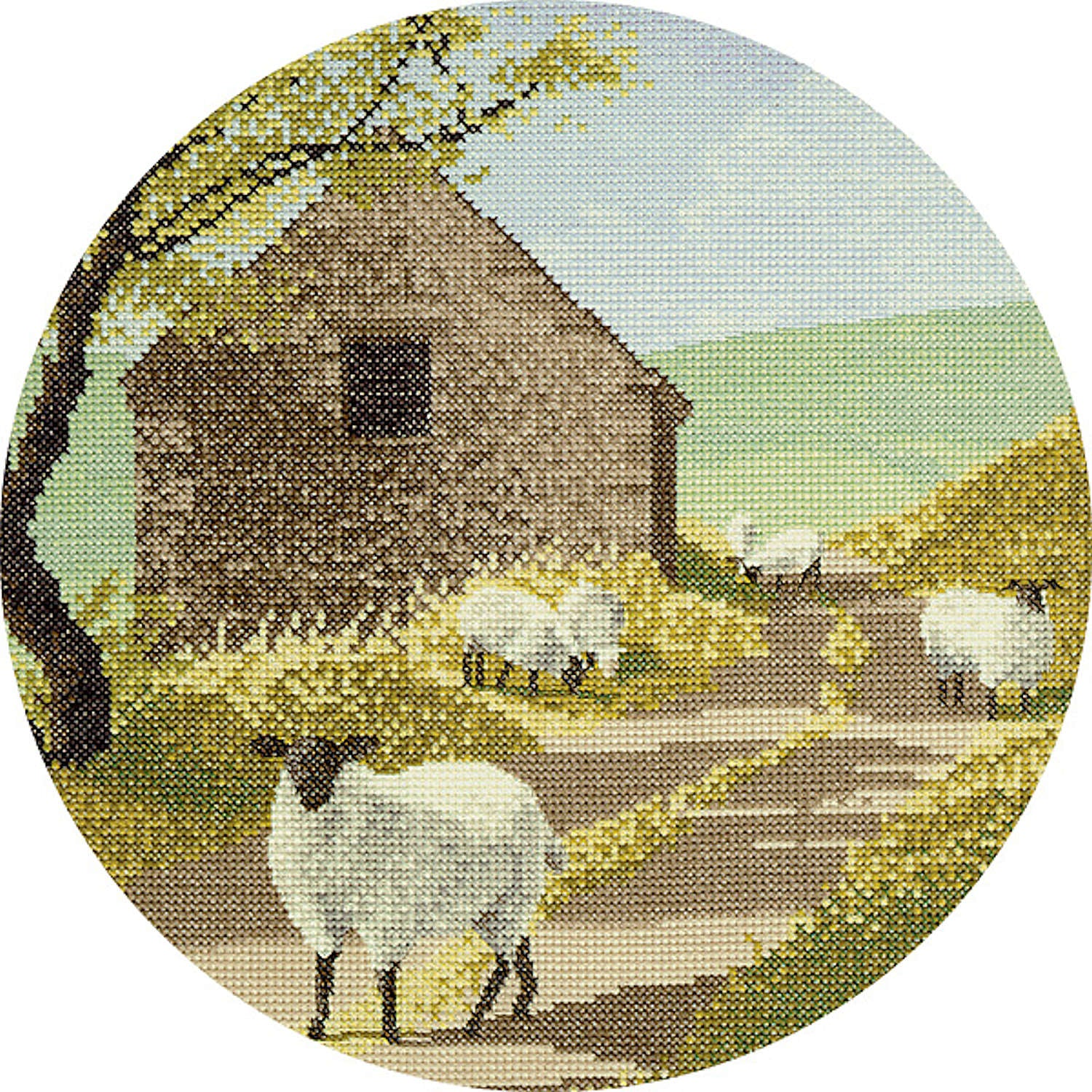 John Clayton Counted Cross Stitch<br /> Sheep Track