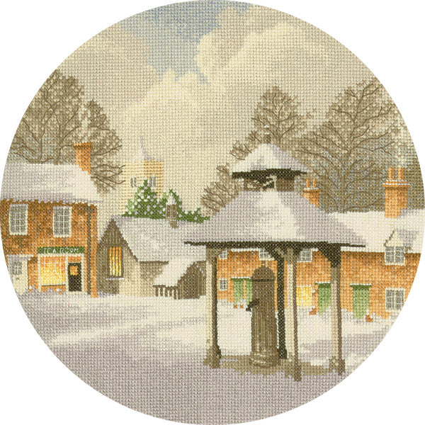 John Clayton Counted Cross Stitch<br /> Winter Village