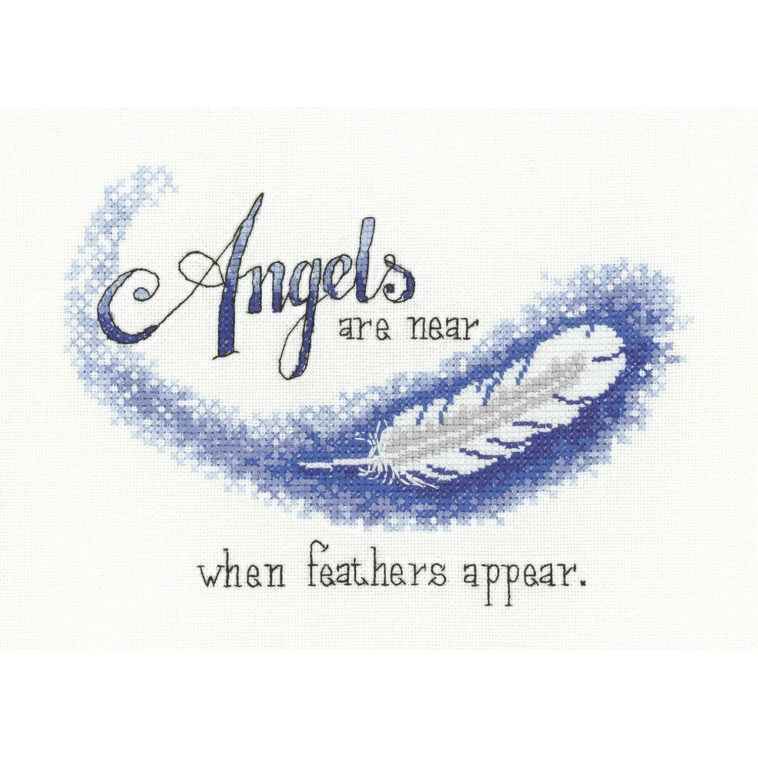 Angels are Near <br />Counted Cross Stitch Kit