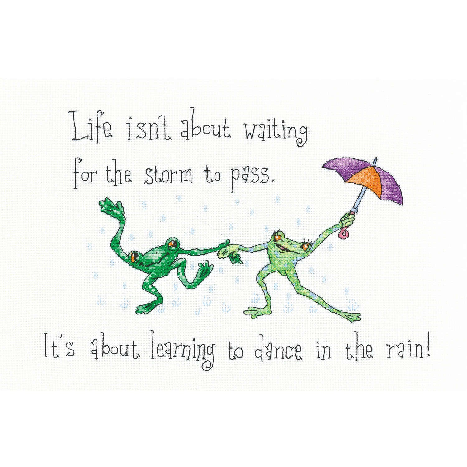 Dancing in the Rain <br />Counted Cross Stitch Kit