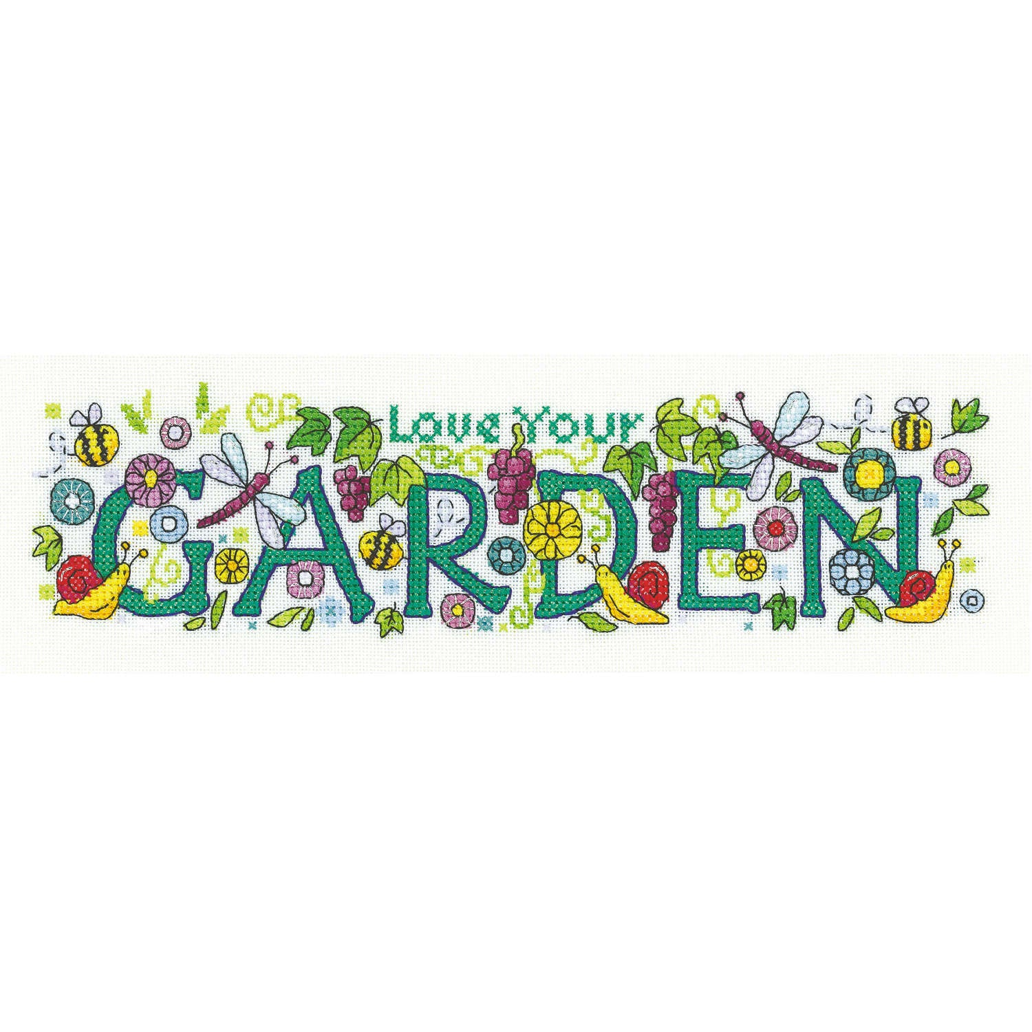 Love your Garden <br />Counted Cross Stitch Kit