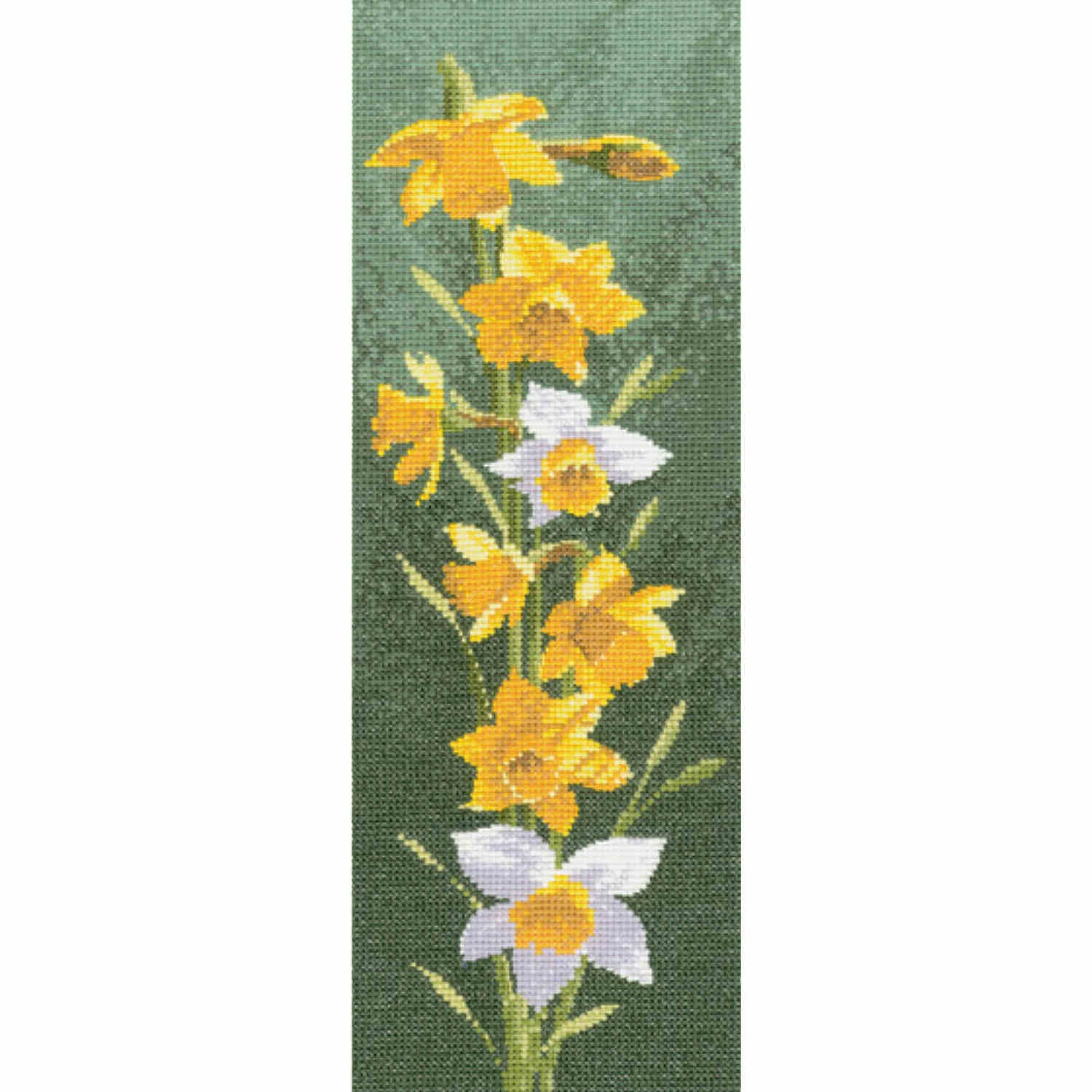 John Clayton Counted Cross Stitch<br /> Daffodil Flower Panel