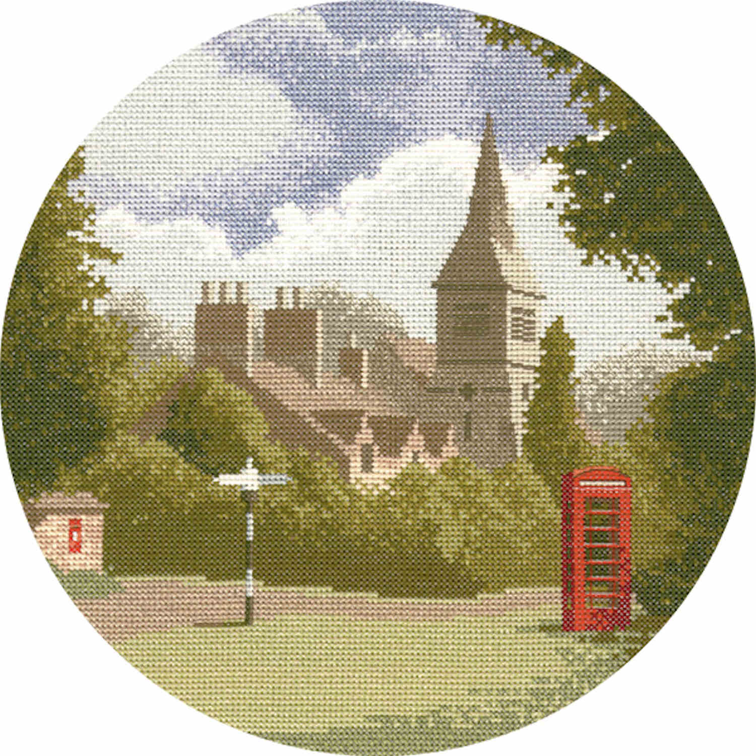 John Clayton Counted Cross Stitch<br /> Village Green