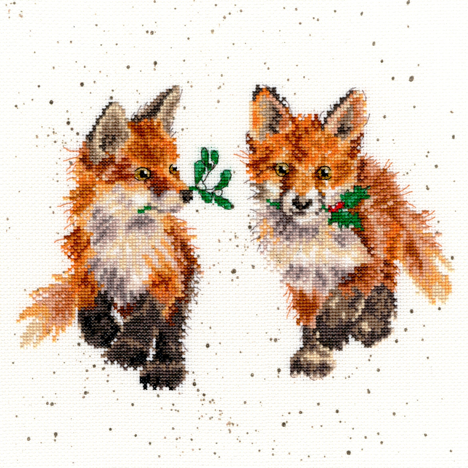 Foxy Foxes<br />Counted Cross-Stitch Kit