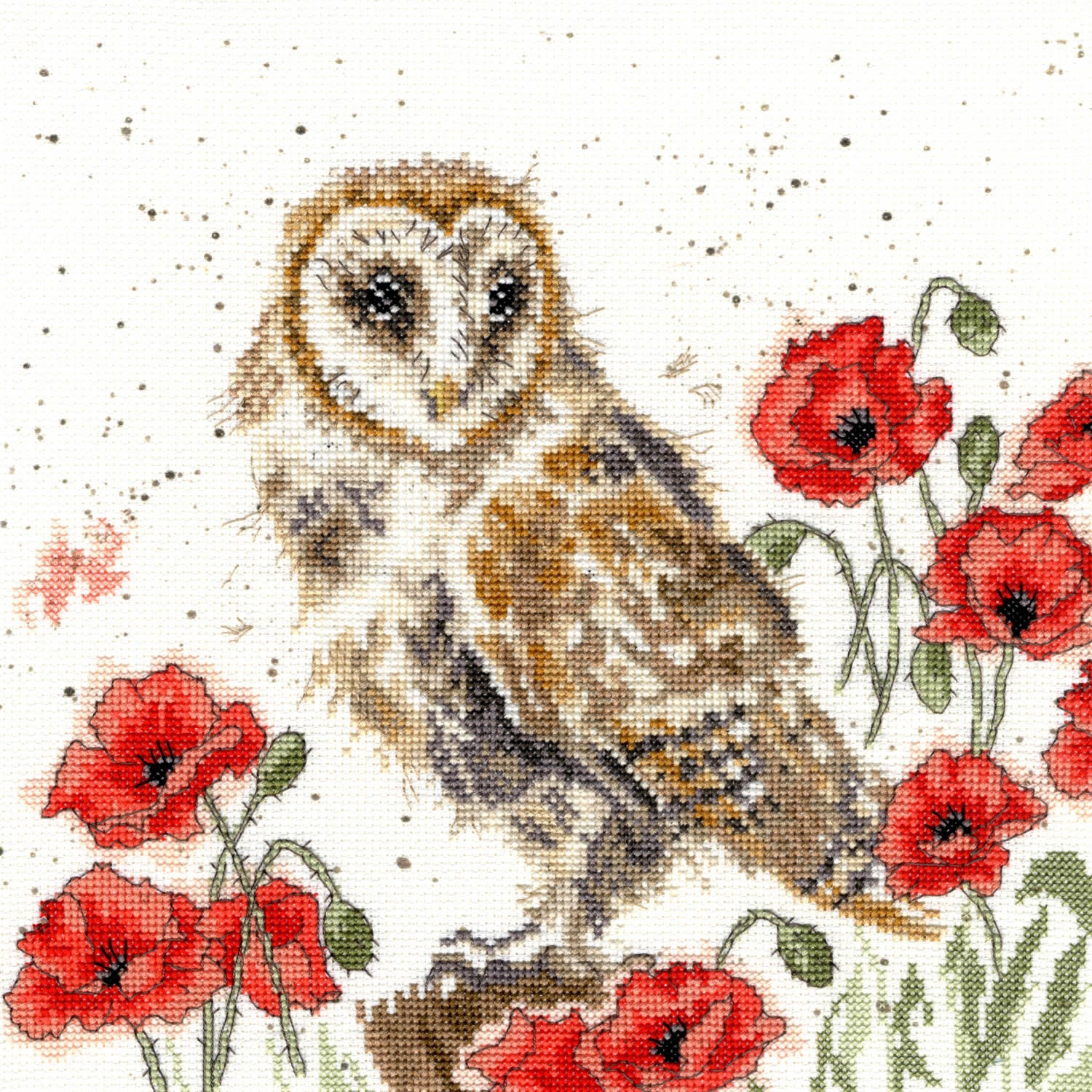 Owl and Poppies<br /> Counted Cross-Stitch Kit