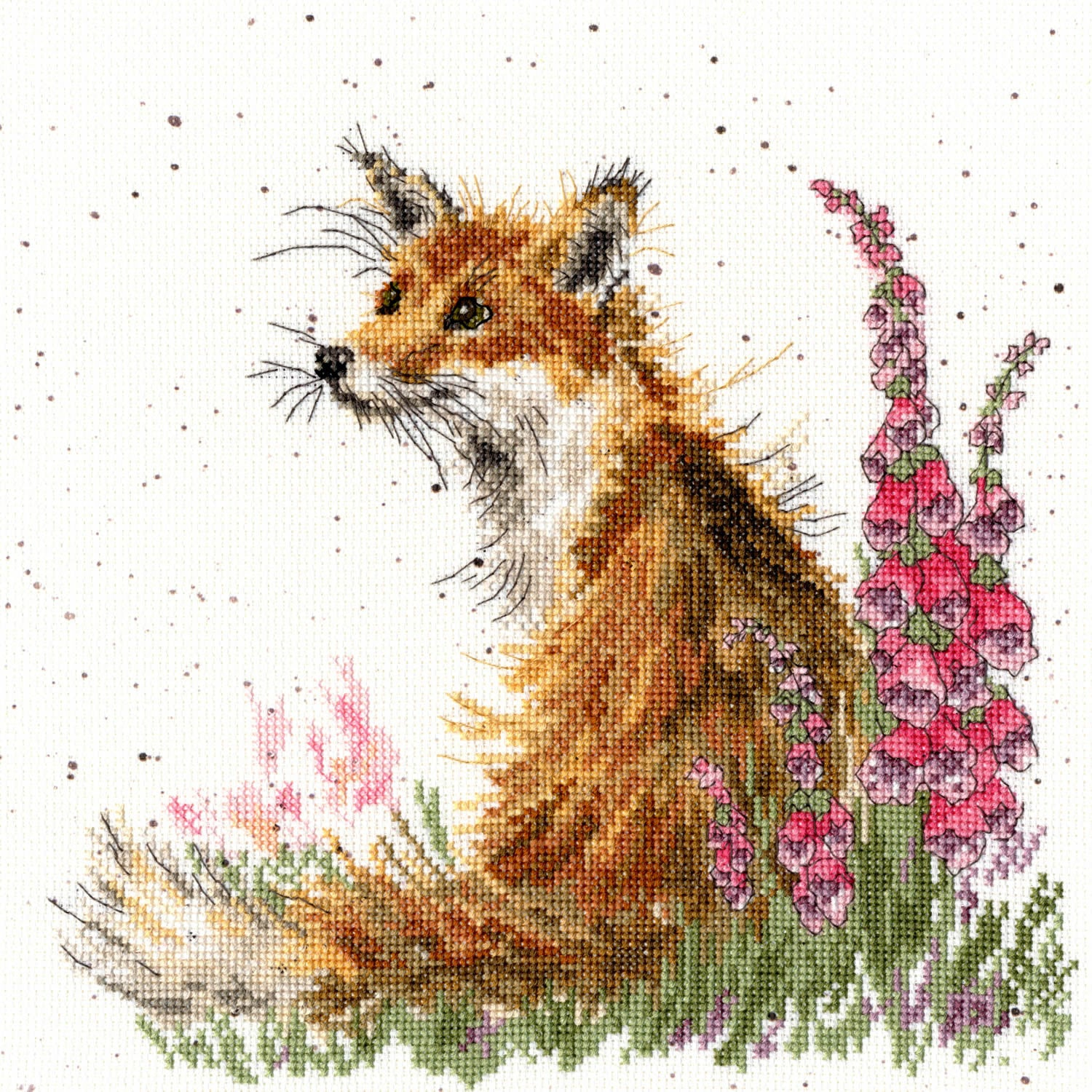 Fox and Foxgloves<br />Counted Cross-Stitch Kit