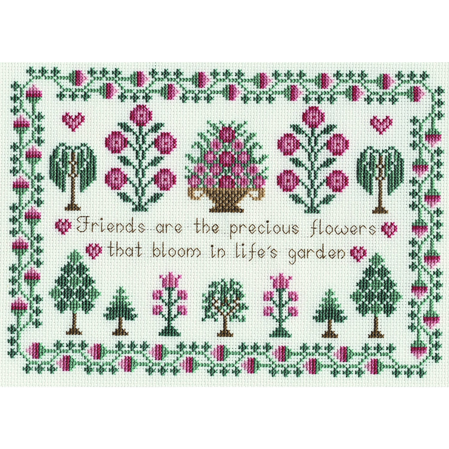 Sampler - Friends<br />Counted Cross Stitch Kit