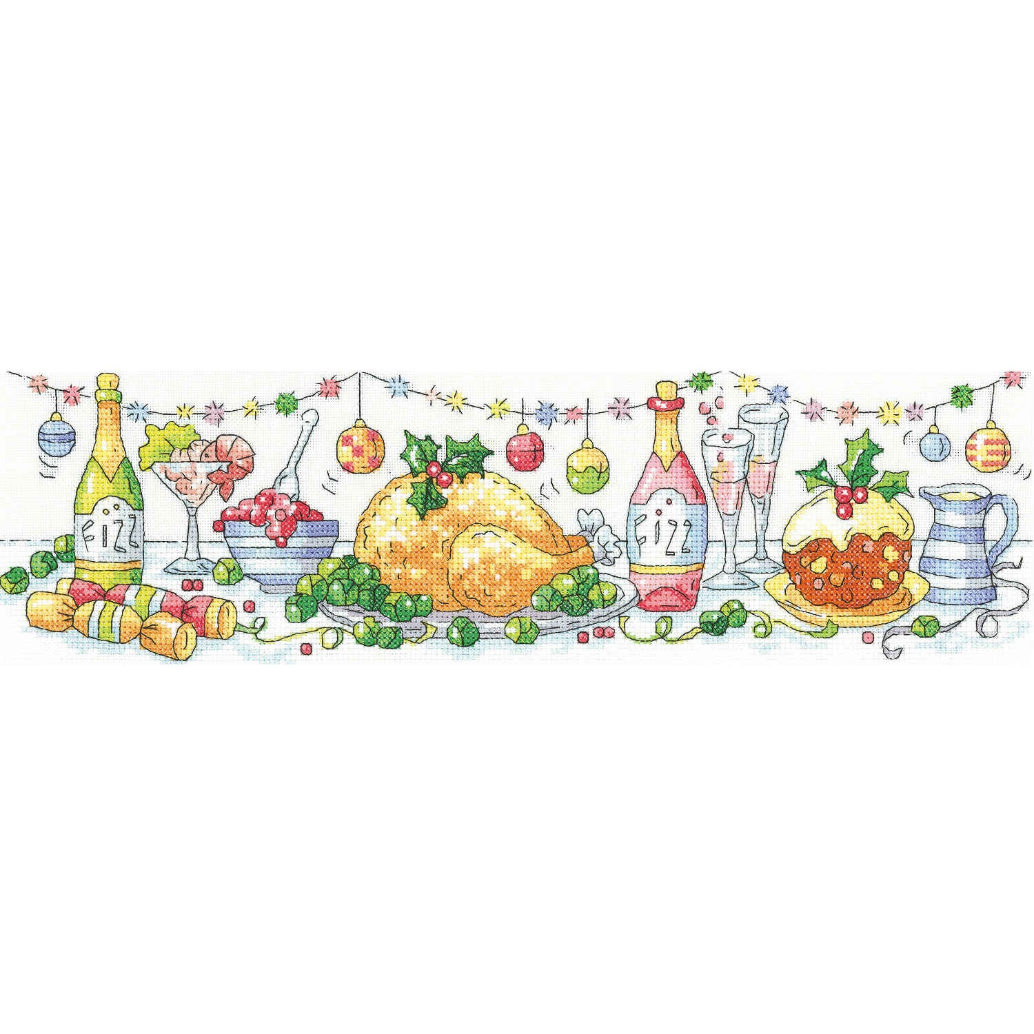 Christmas Dinner <BR /> Counted Cross Stitch
