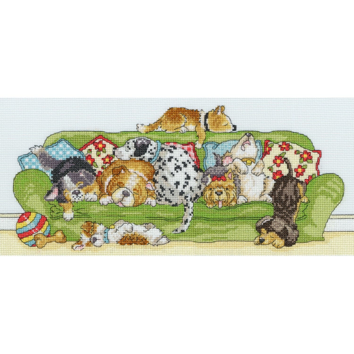 Lazy Dogs <br />Counted Cross Stitch Kit