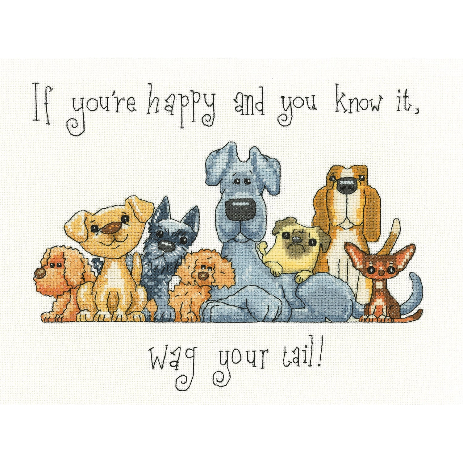 If You're Happy... Wag Your Tail <br />Counted Cross Stitch Kit